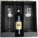 Gaveæske med 2 Eisch SensisPlus Superior Bordeaux rødvinsglas (excl. vin)